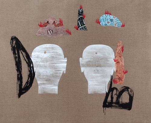 Dadang Christanto, Batik Has Been Burnt #8 (2008), acrylic on Belgium linen, 137 x 167cm