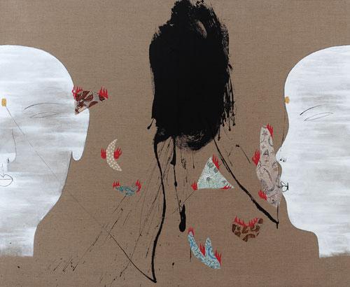 Dadang Christanto, Batik Has Been Burnt #4 (2007), acrylic on Belgium linen, 137 x 167cm