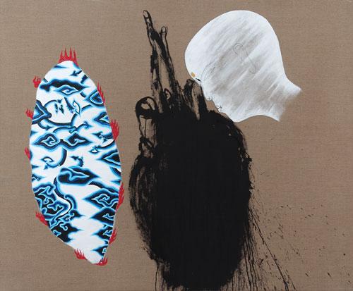 Dadang Christanto, Batik Has Been Burnt #3 (2007), acrylic on Belgium linen, 137 x 167cm