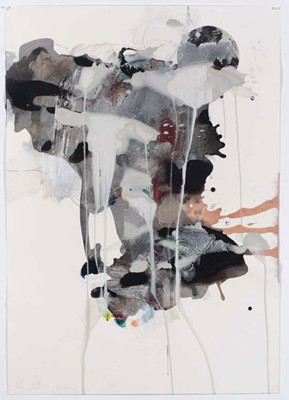 Daniel Mafe, Untitled #2 (2008), acrylic, pencil and charcoal on paper, 122 x 86cm
