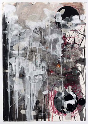 Daniel Mafe, Untitled #3 (2008), acrylic, pencil and charcoal on paper, 122 x 86cm