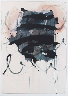 Daniel Mafe, Untitled #4 (2008), acrylic, pencil and charcoal on paper, 122 x 86cm