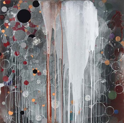 Daniel Mafe, Untitled #6 (2008), acrylic on canvas, 180 x 180cm