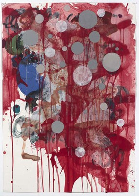 Daniel Mafe, Untitled #8 (2008), acrylic, pencil and charcoal on paper, 122 x 86cm