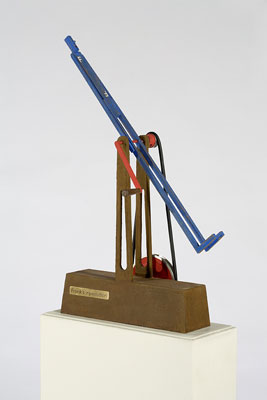 Stephen Hart, Frank's Revolution (2008), carved and polychromed timber, 81 x 40.5 x 22.5cm