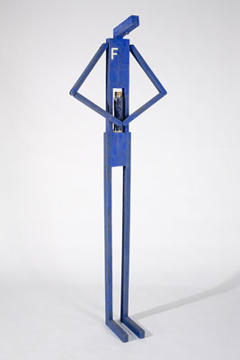 Stephen Hart, Frank Feels Full of Himself (2008), carved and polychromed timber, 200 x 66 x 30cm