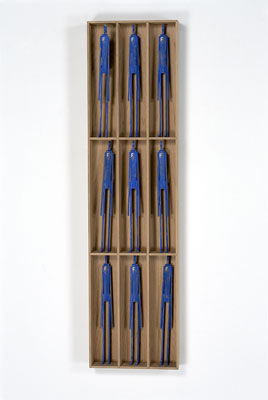 Stephen Hart, Frankophile (2008), carved and polychromed timber, 90.5 x 23 x 6cm