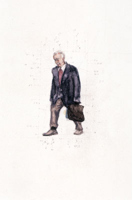 Stephen Hart, This Man (2006), pencil and watercolour, 55 x 33.5cm framed