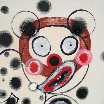 Daniel Mafe, Small Head Painting IV (2006), acrylic on canvas, 20 x 20cm
