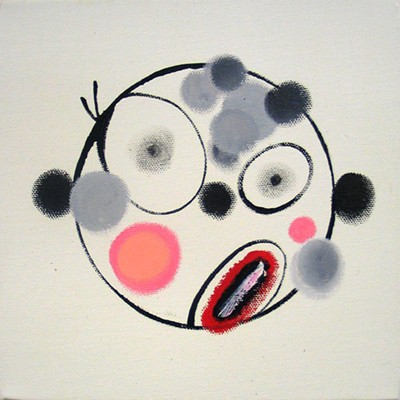 Daniel Mafe, Small Head Painting II (2006), acrylic on canvas, 20 x 20cm