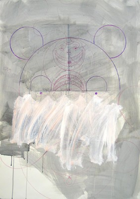 Daniel Mafe, Drawing III (Chris Ware) (2006), mixed media on paper, 122 x 86cm unframed