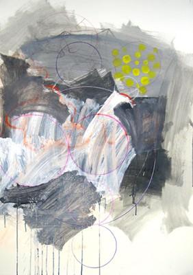 Daniel Mafe, Drawing II (Chris Ware) (2006), mixed media on paper, 122 x 86cm unframed