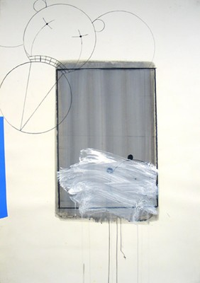 Daniel Mafe, Drawing (Asylum) (2006), mixed media on paper, 122 x 86cm unframed