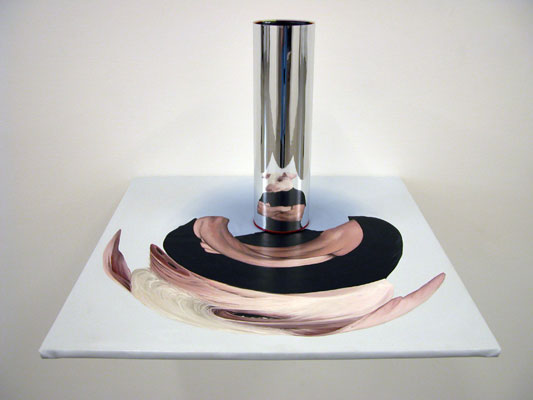 Juan Ford, Ignorance 1 (2006), oil on linen, reflective cylinder, 45 x 55 x 55cm