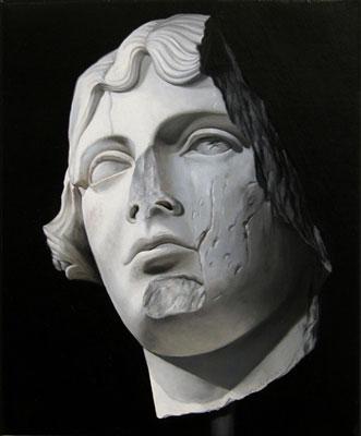 Juan Ford, Husk #8 (2006), oil on linen, 25 x 20cm