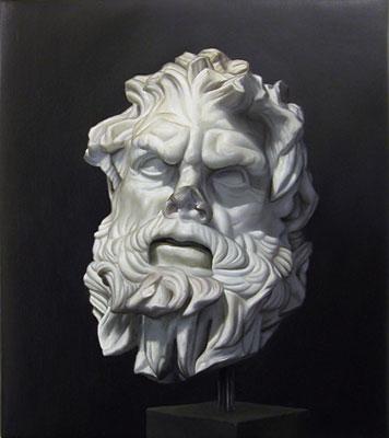 Juan Ford, Husk #6 (2006), oil on linen, 32 x 28cm