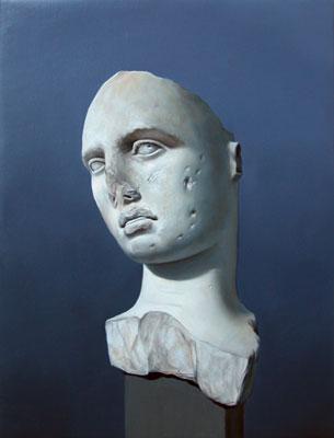 Juan Ford, Husk #5 (2006), oil on linen, 34 x 26cm