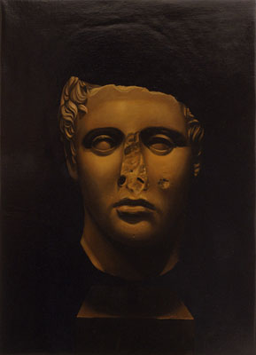 Juan Ford, Husk #3 (2006), oil on linen, 55 x 40cm