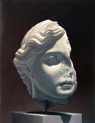 Juan Ford, Husk #2 (2006), oil on linen, 28 x 21.5cm