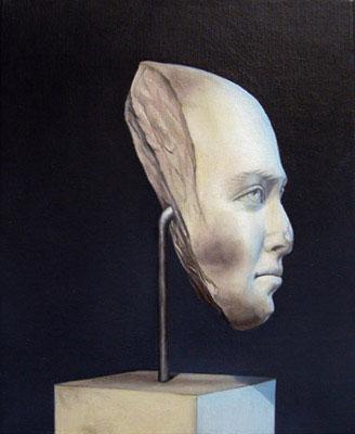 Juan Ford, Husk #12 (2006), oil on linen, 28 x 23cm