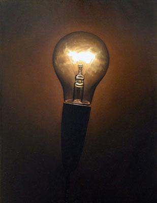 Juan Ford, Beacon #4 (2006), oil on linen, 25 x 35cm