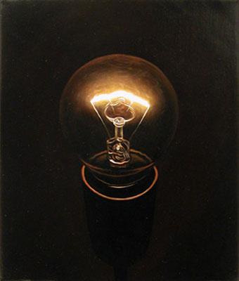 Juan Ford, Beacon #3 (2006), oil on linen, 30 x 25cm