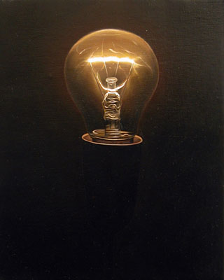 Juan Ford, Beacon #1 (2006), oil on linen, 25 x 20cm
