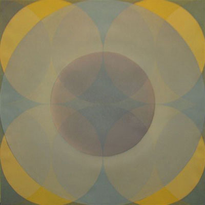 Daniel Mafe, Mergent Light (2004), acrylic on canvas, 120 x 120cm