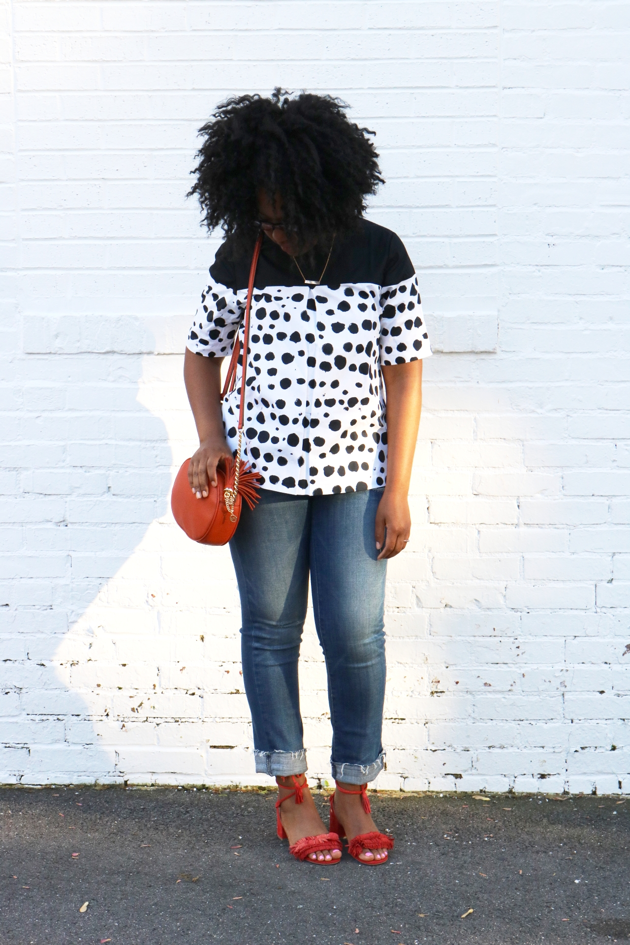 #chicasual #polkadottop #solesociety