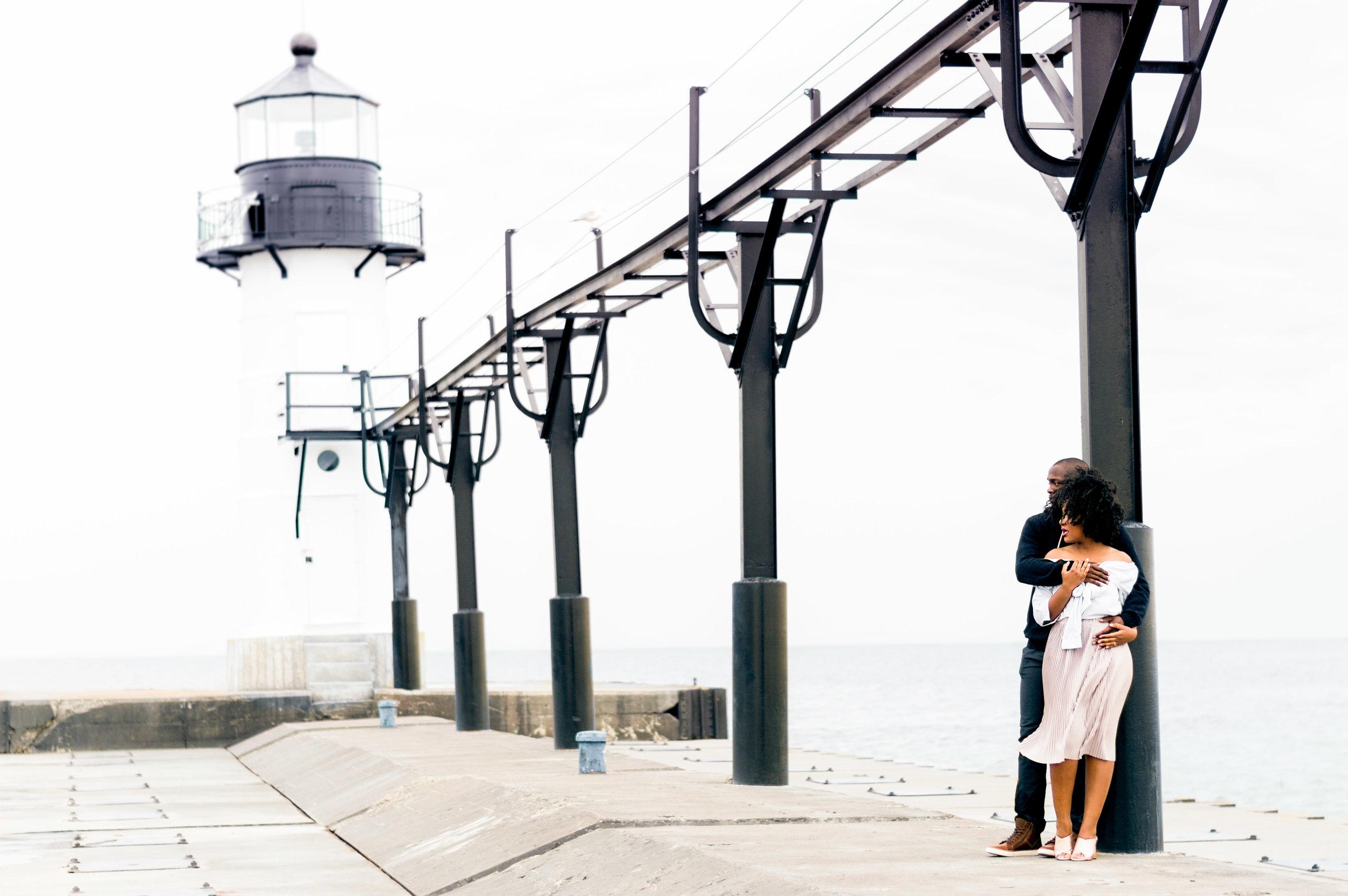 Lighthouse Engagement Photoshoot