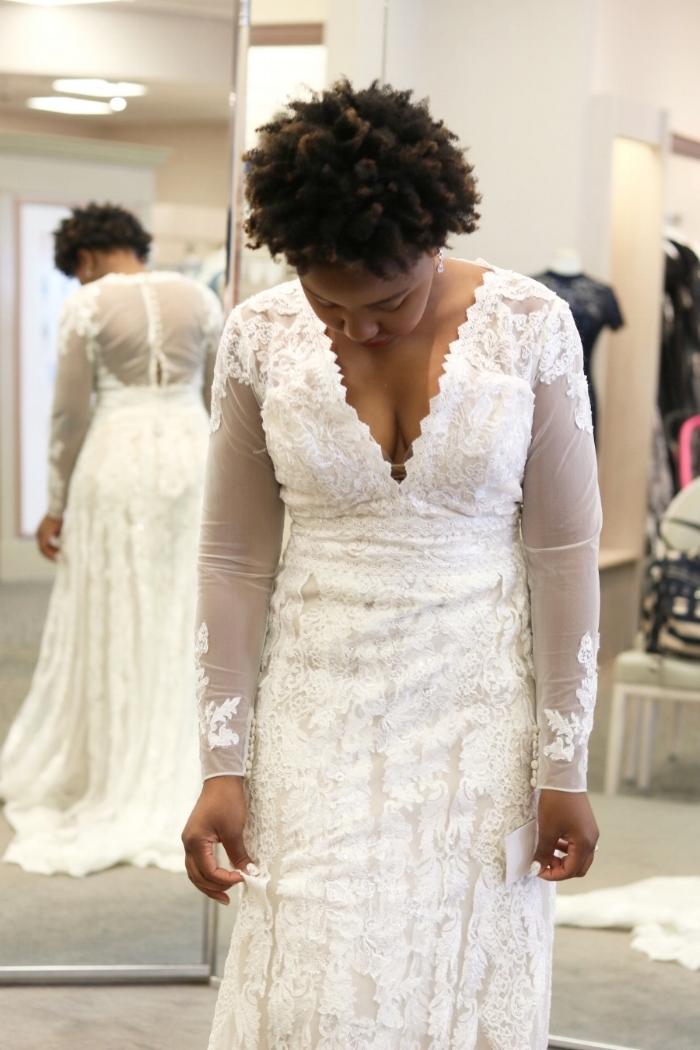 David's Bridal Dress Fitting