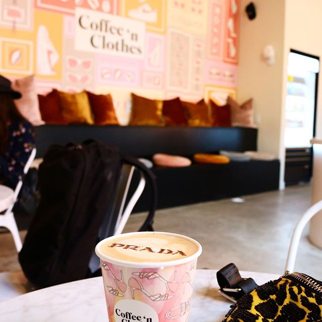 "Hands up for people who would go out of their way for an experience🙌🏾🙌🏾🙌🏾🙌🏾 — @coffeenclothes is perfectly nestled within a ""Must-Do"" experience at the house of @showfields in NYC! Not only is it IG worthy, totally dripping in a content curators splendor, but as a baby coffee connoisseur, it's beyond decent coffee! — — Trying to get back to sharing things I love without being paid or bartered for them! I do like social media coins though don't get it twisted. •  P.s- let me tell you guys how this weekend of flipping nights back to days had me completely dazed and confused. I've never stunned myself so much in my life the way I did this morning. STUNNED. I was suffering from a bad case of denial and confusion. Anyways, let's just say I didn't show up to work, and then I did with a hot fire behind me. #shooketh — — BIG ANNOUNCEMENT COMING SOON btw! #coffeenclothes #showfields #houseofshowfields #travelnyc #instaworthycoffee #ctblogger #ctbloggerbabes"