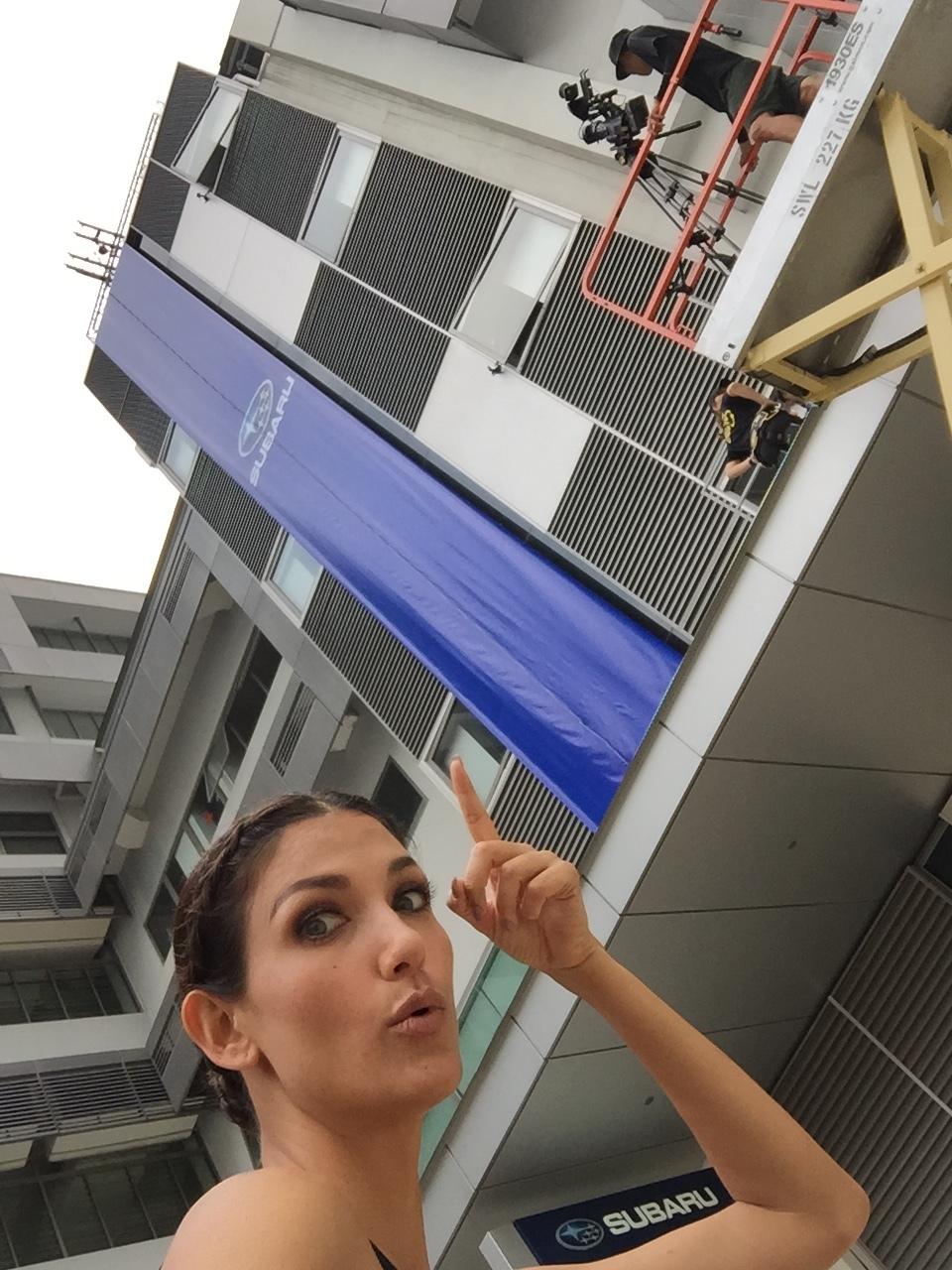 That crazy vertical catwalk challenge!