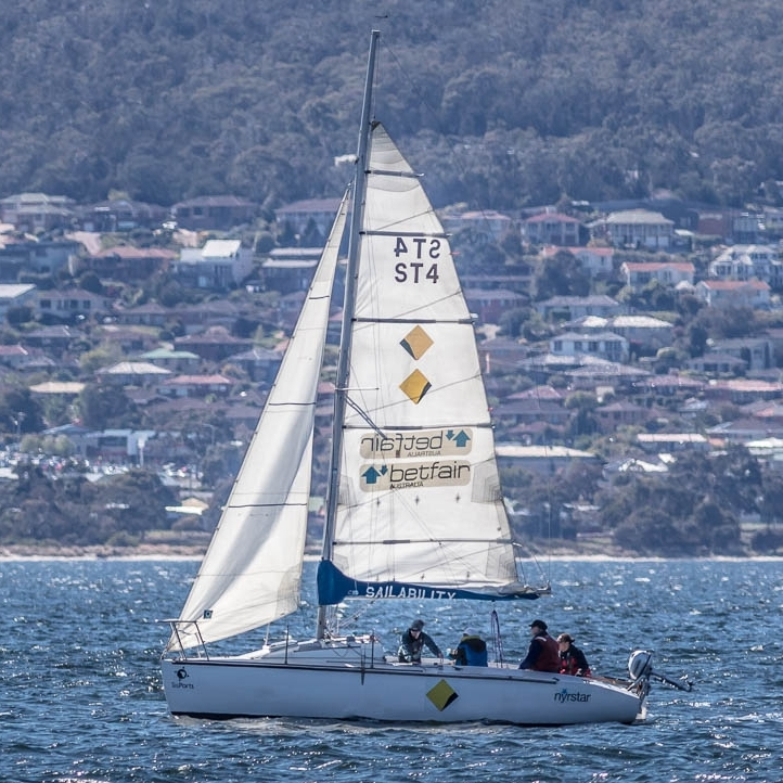 One of Hobart's two Payne keel boats out on a casual sail.