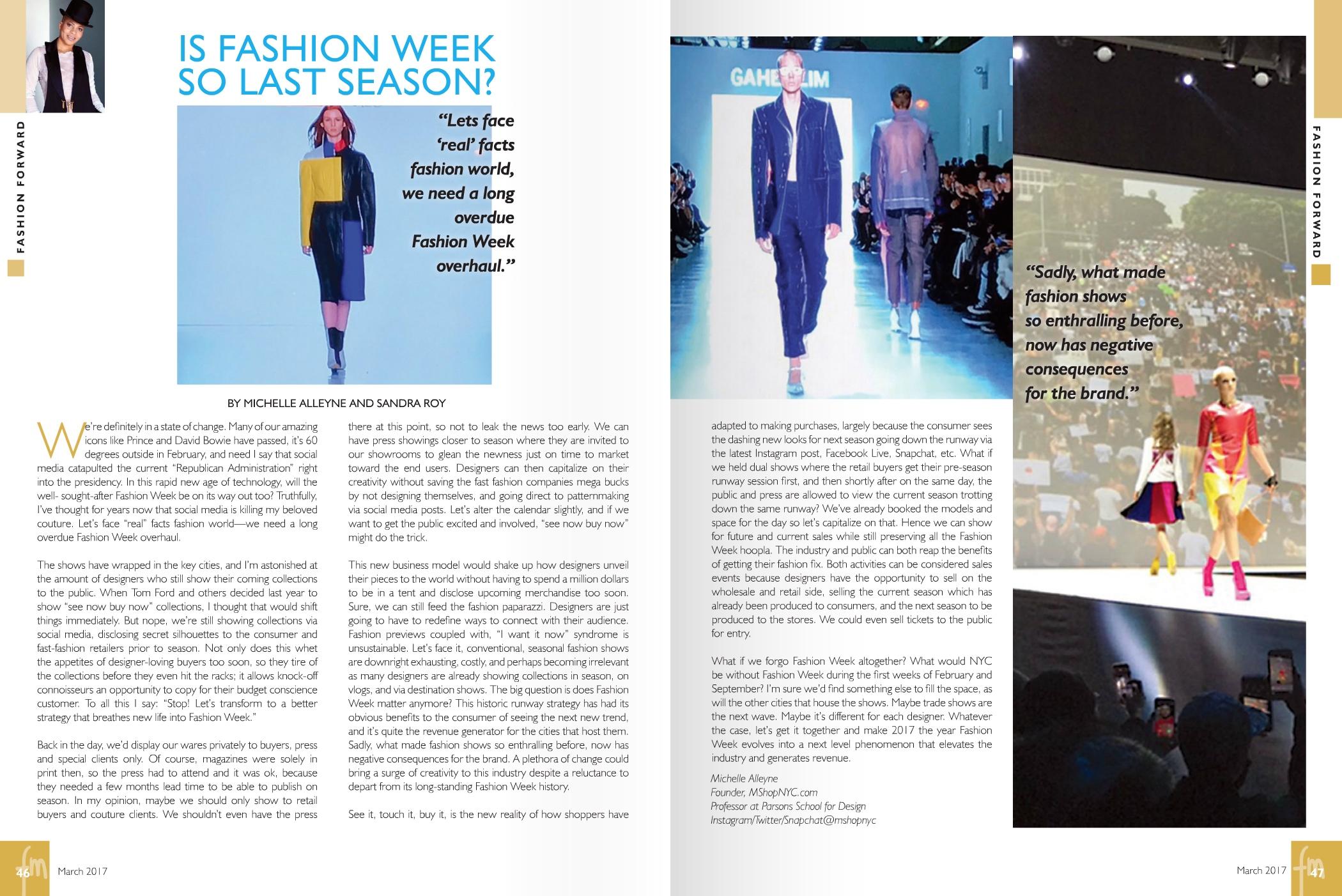 Fashion Mannuscript March 2017 by Michelle Alleyne and Sandra Roy