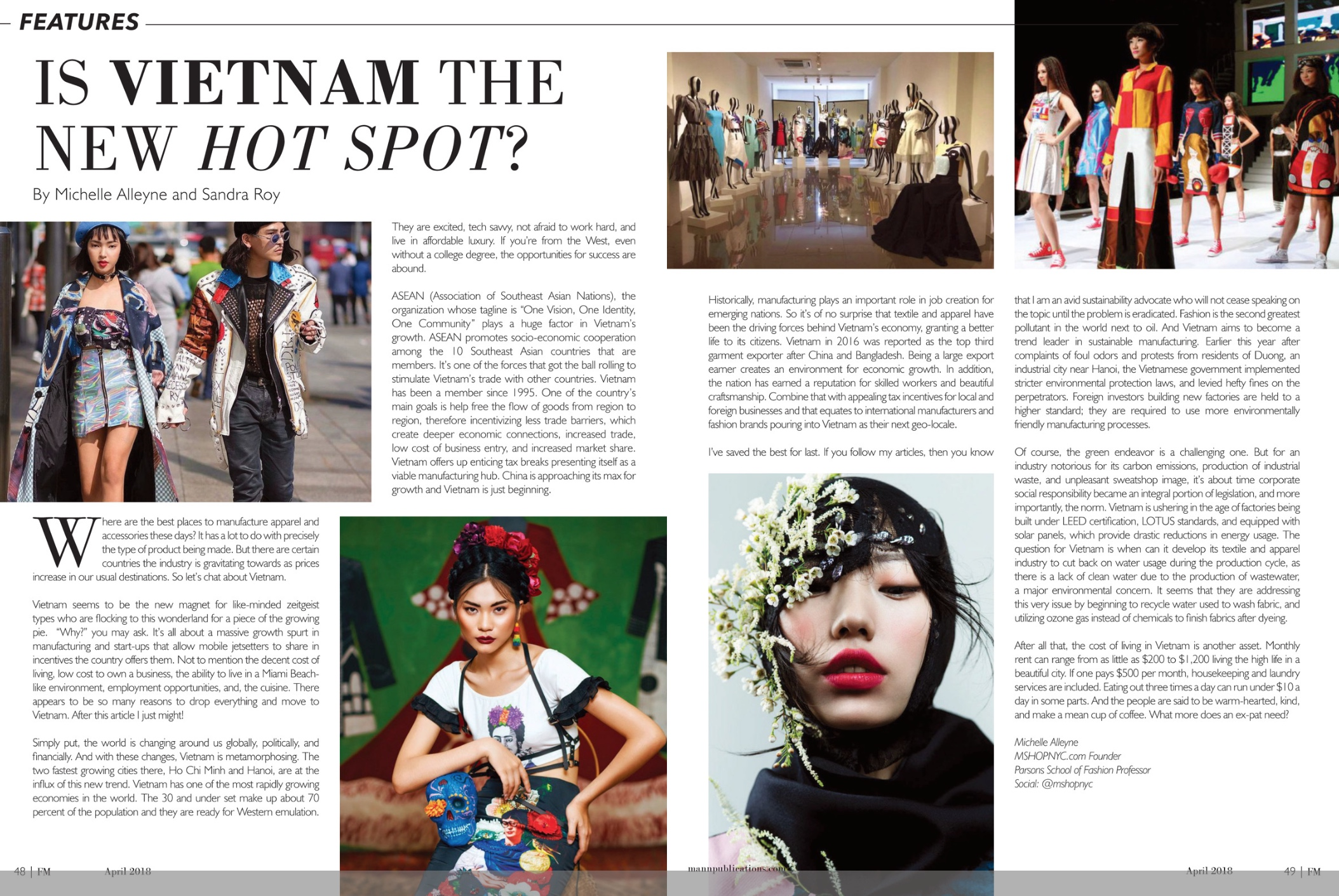 Fashion Mannuscript April 2018 by Michelle Alleyne and Sandra Roy