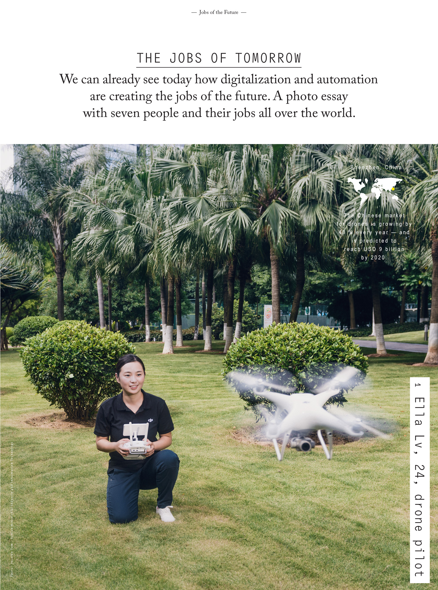 Ella Lv, Drone Pilot , Source Ministry of Industry and Information Technology.