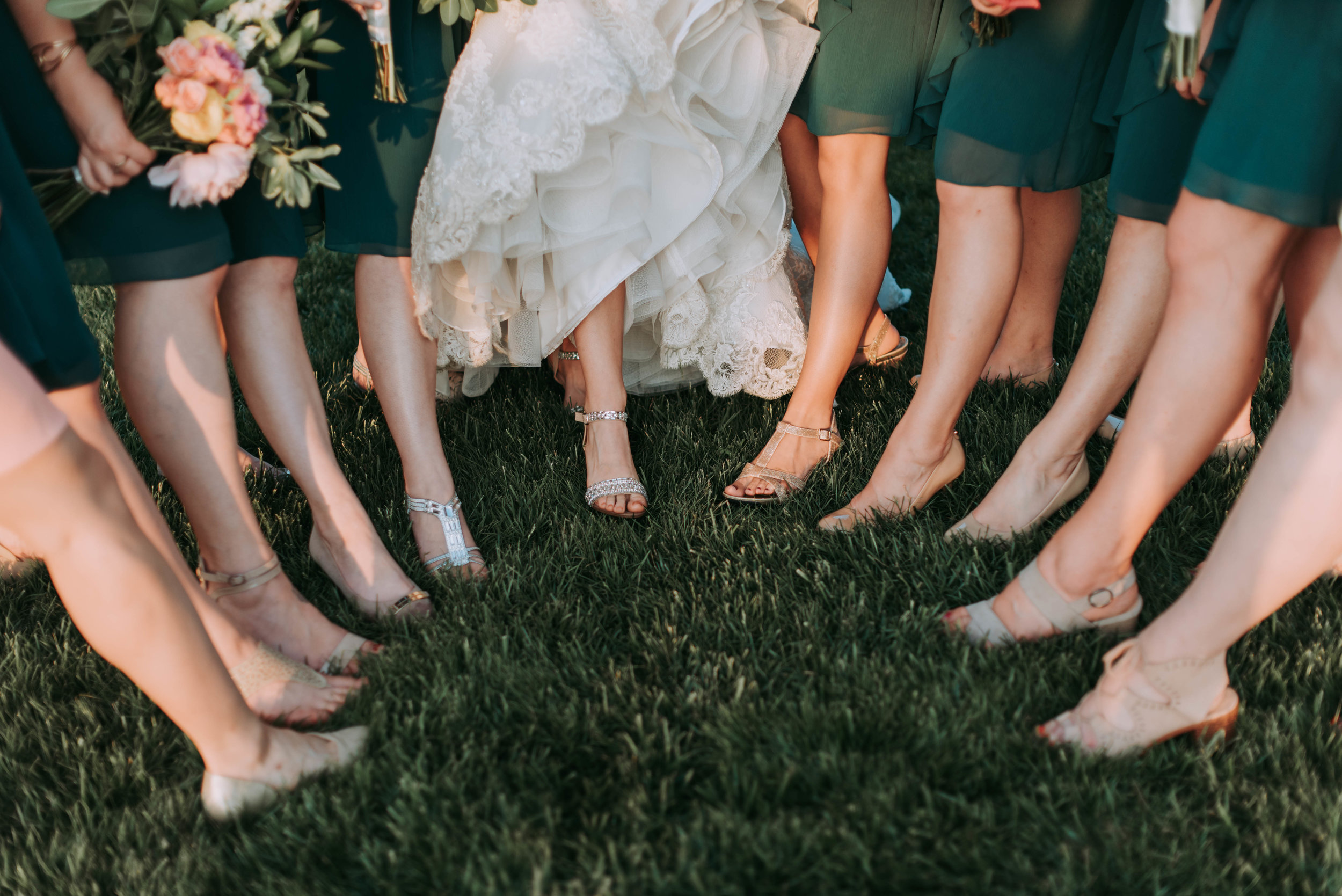 Different Dresses - Flowing from the use of more vibrant colours, 2019 will see plenty of non-traditional bridesmaid dresses. Consider using an eclectic but complementary colour palette and your girls will thank you.