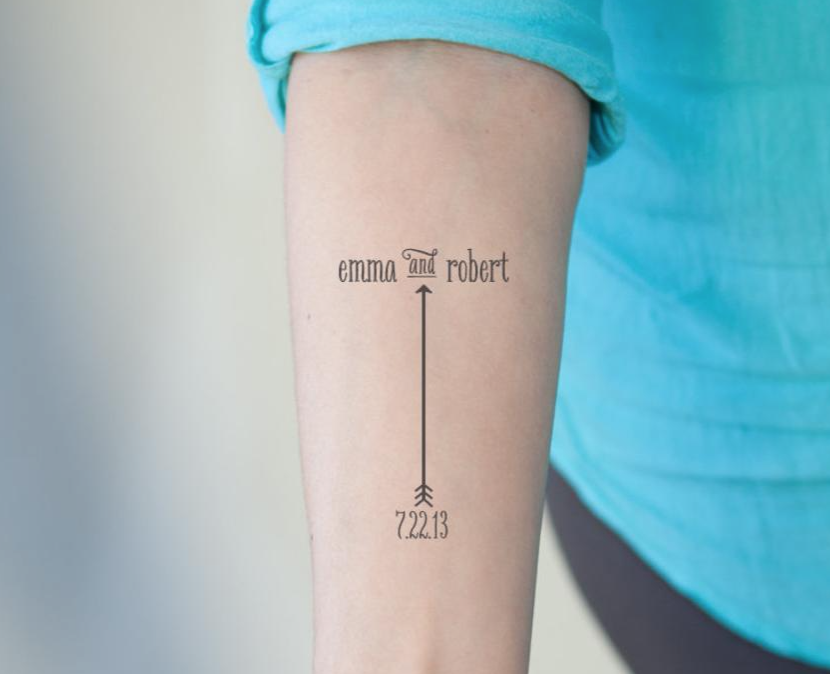 Temporary Tattoos - You'll be ahead of the curve bringing this fun touch into your wedding. You can create custom designs online and set up a tattoo station for your guests to apply them.