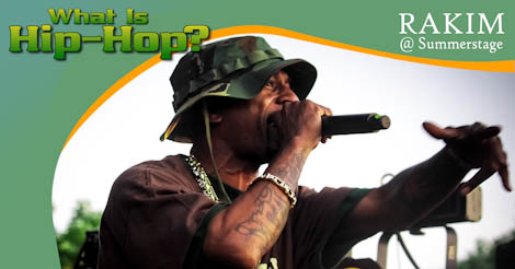 Rakim Moves The Crowd In Red Hook, Brooklyn