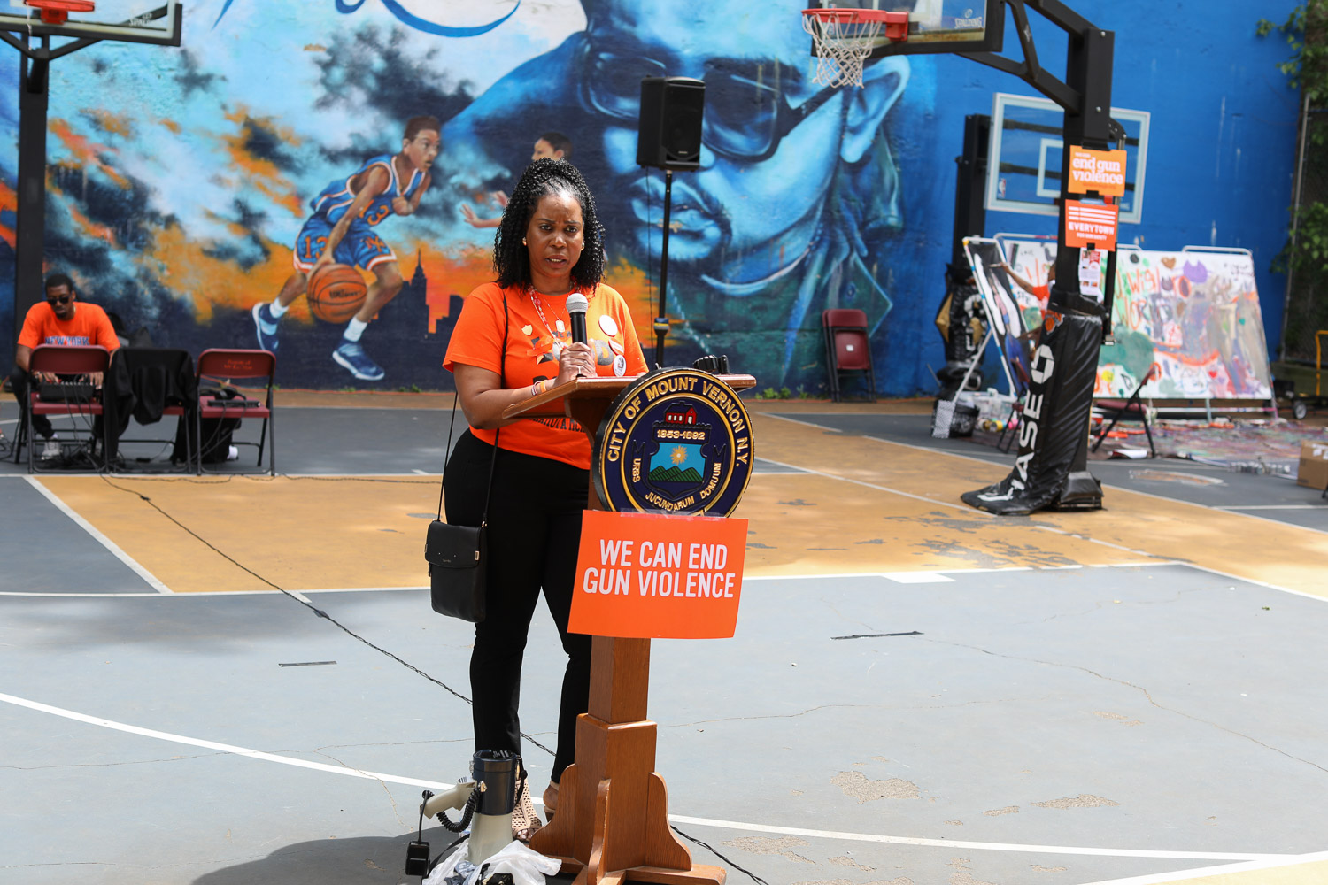 Nadine McKenzie of The Shamoya McKenzie Foundation Speaks At The Moms Demand Action for Gun Sense in America Gun, Violence Awareness Week at Heavy D Memorial Park in Mount Vernon June 9, 2019. Photography by Tyrone Z. McCants / Zire Photography