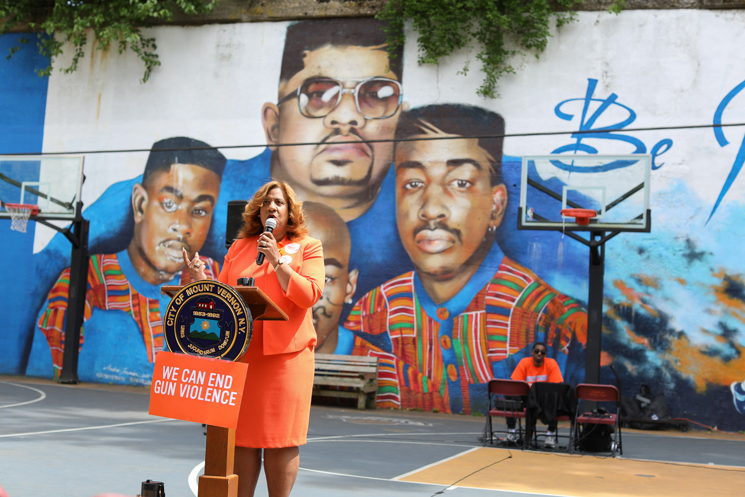 Shawyn Patterson-Howard Speak On Safety Tactics In Mount Vernon At The Moms Demand Action for Gun Sense in America Gun, Violence Awareness Week at Heavy D Memorial Park in Mount Vernon June 9, 2019. Photography by Tyrone Z. McCants / Zire Photography