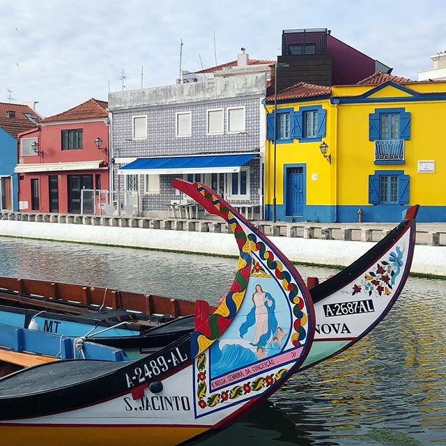 Catching up on some posts while sitting at the airport heading to Athens. This gorgeous little city is Aveiro. They call it the Venice if Portugal. #aveiro #portugal