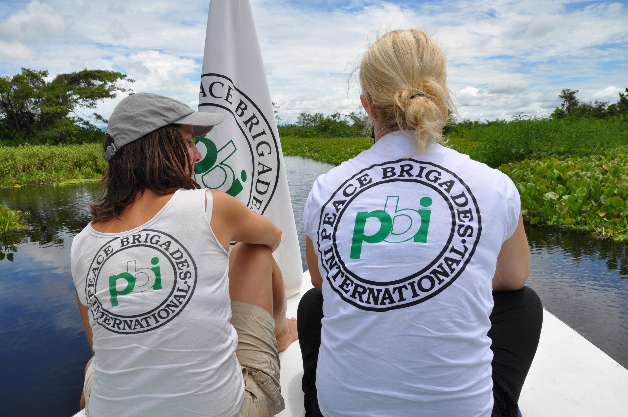 Volunteers travelling by boat in Colombia.jpg