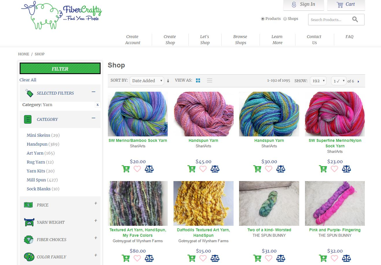 Image copyright Fibercrafty - individual products under copyright of shop owners