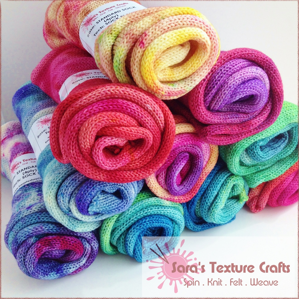 Sara's Texture Crafts sock blanks