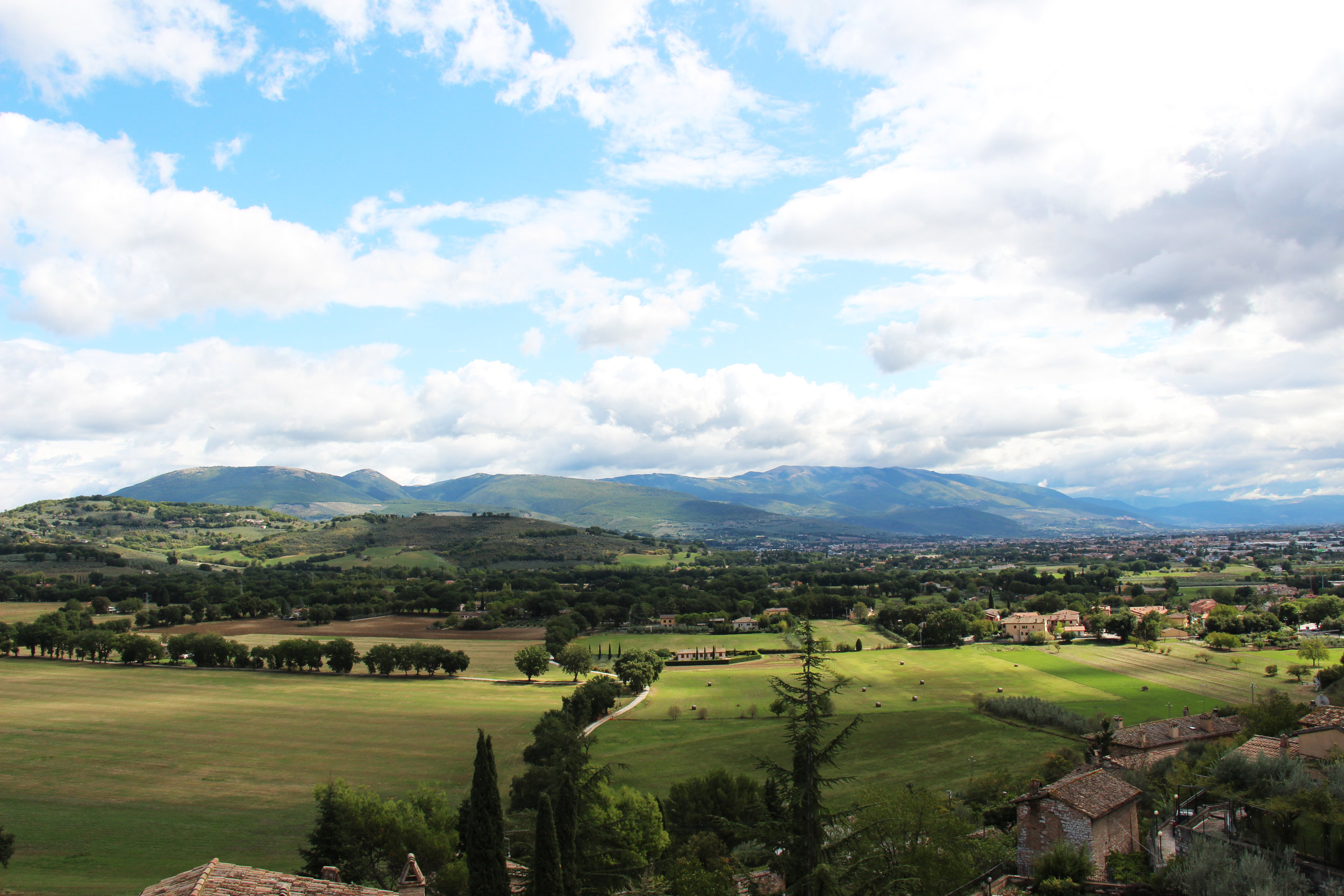 Beautiful Spello - the view from our humble abode.