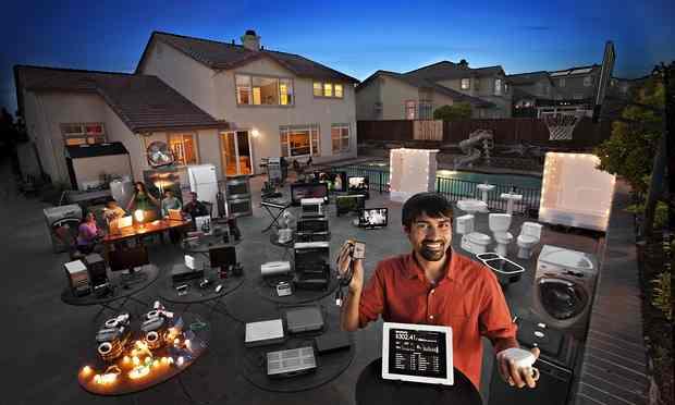 A decade from now, everything could be connected to the internet of things. Photograph: Peter Menzel/The Human Face of Big Data