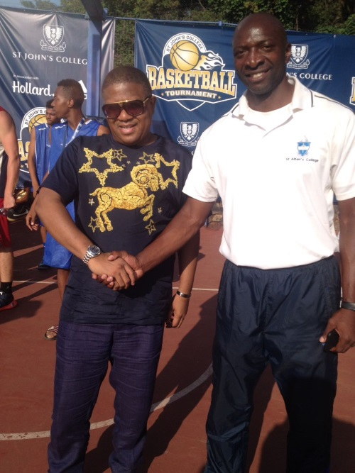 Victor Fouda - With the former Minister of Sports Mr. Fikile Mbalula