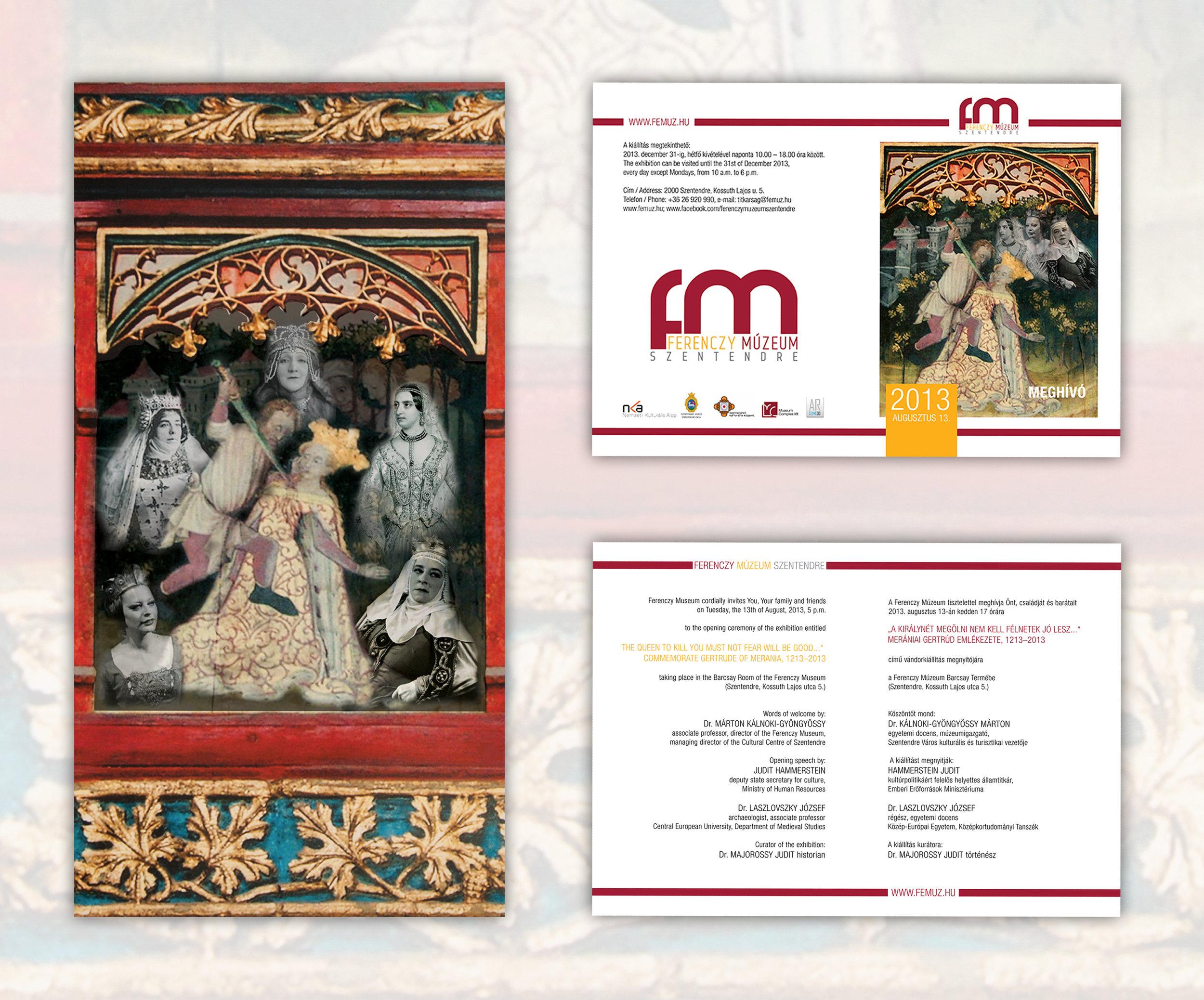 Ferenczy Múzeum meghívó és grafika
